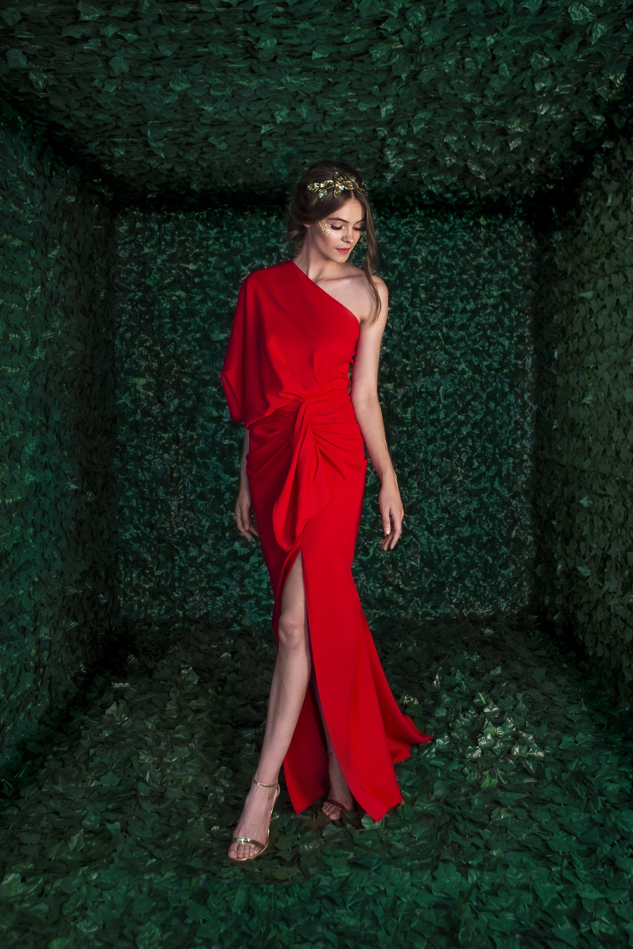 Malvina Long One Shoulder Dress Rhea Costa Shop