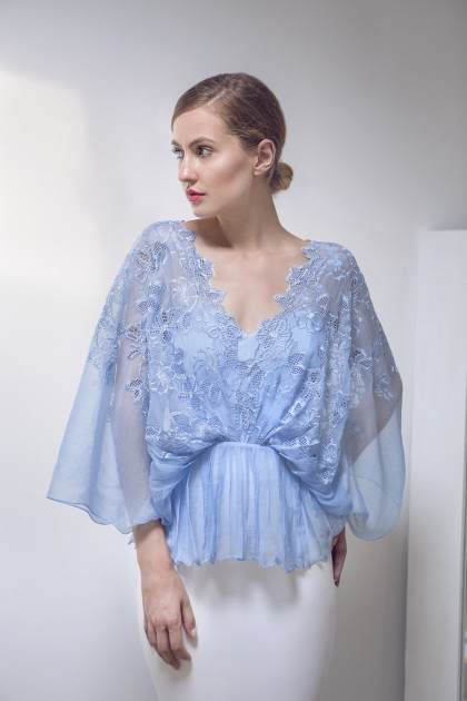 SILK CHIFFON LACE LOOSE BLOUSE