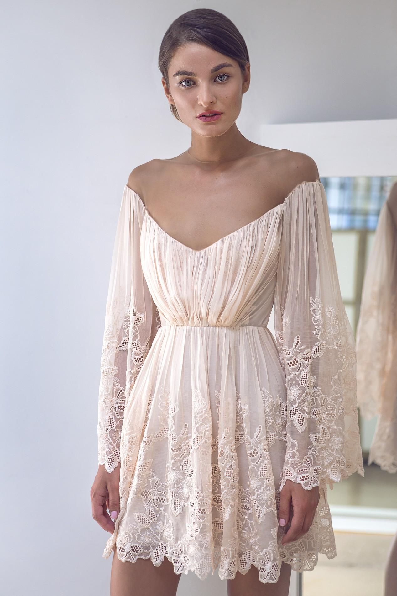 short lace boho dress  rhea costashop