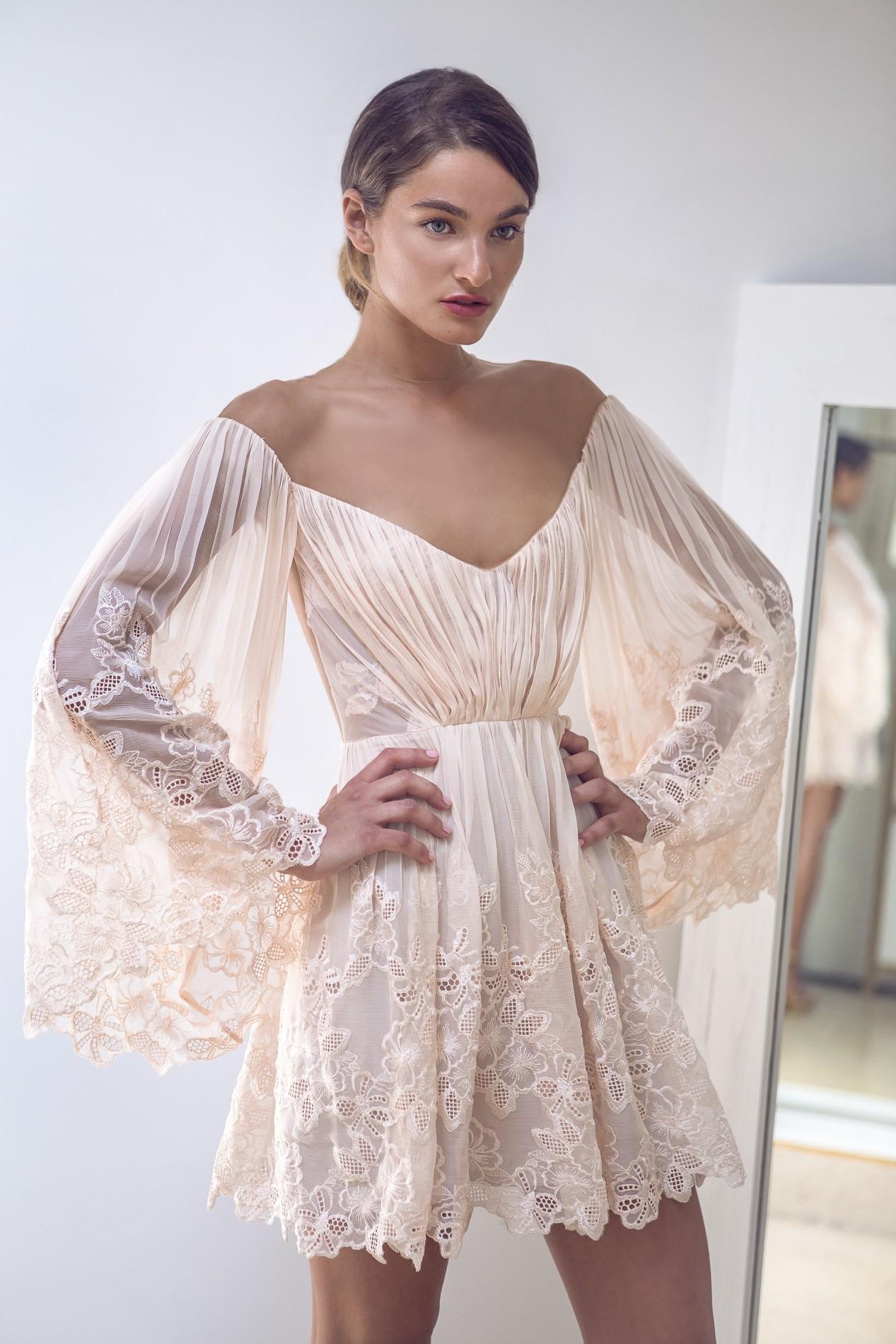 Short Lace Boho Dress Rhea Costa Shop