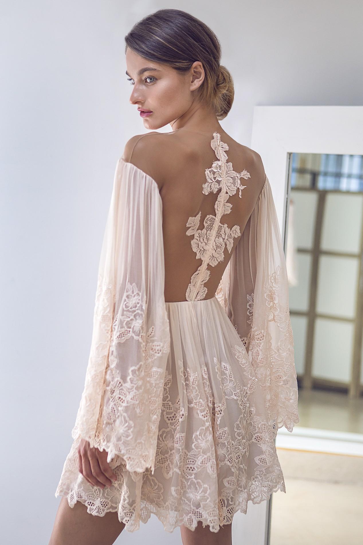 SHORT LACE BOHO DRESS - Rhea Costa-Shop
