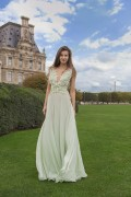 FAIRY SOFT GREEN BUTTERFLY SILK CHIFFON GOWN