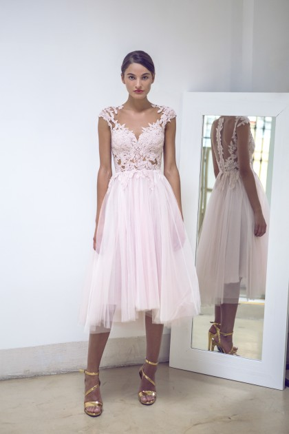 TULLE AND LACE COCKTAIL DRESS
