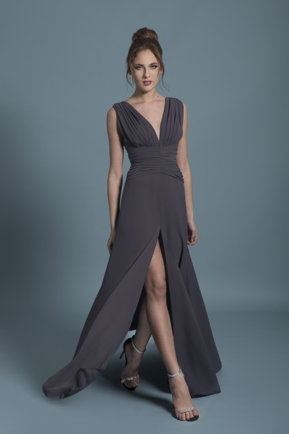 LONG STRAPS CREPE GOWN