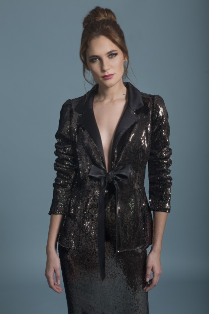 RIBBON SEQUIN JACKET