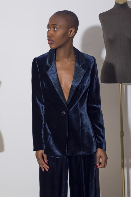 SILK LAME VELVET JACKET