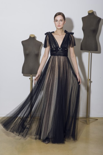 LONG TULLE GOWN