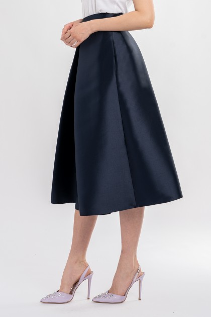 MIKADO SILK MIDI SKIRT