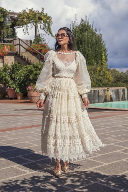 MACRAMÉ FRENCH LACE DRESS