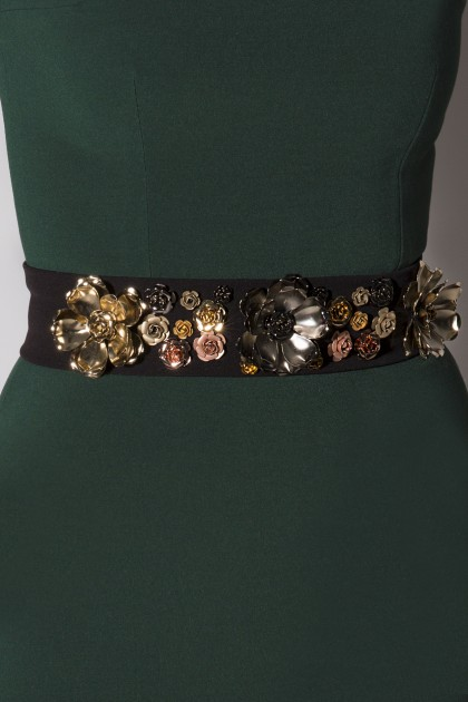 METAL FLOWERS BELT