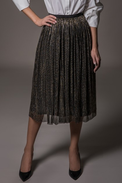 MIDI METALLIC SKIRT
