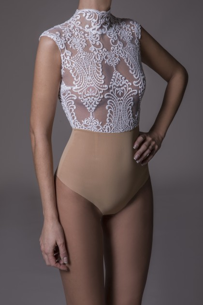 HIGH NECK FULL LACE BODYSUIT