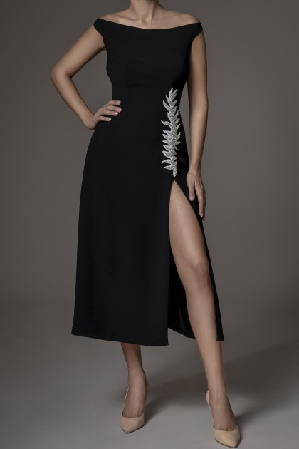 DARING SLIT A-LINE DRESS