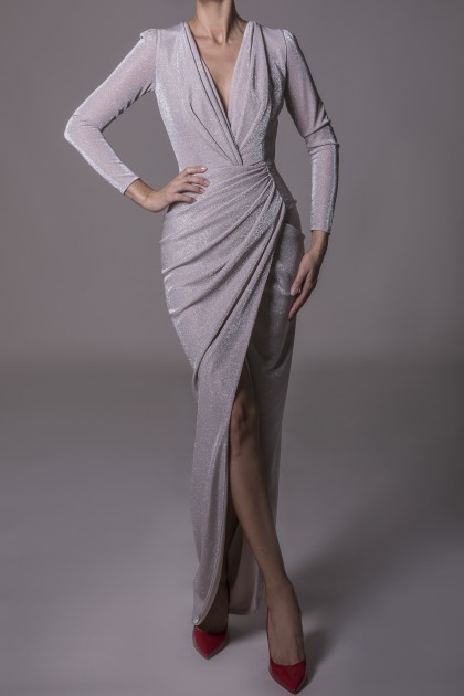 SIGNATURE WRAPPED LONG DRESS