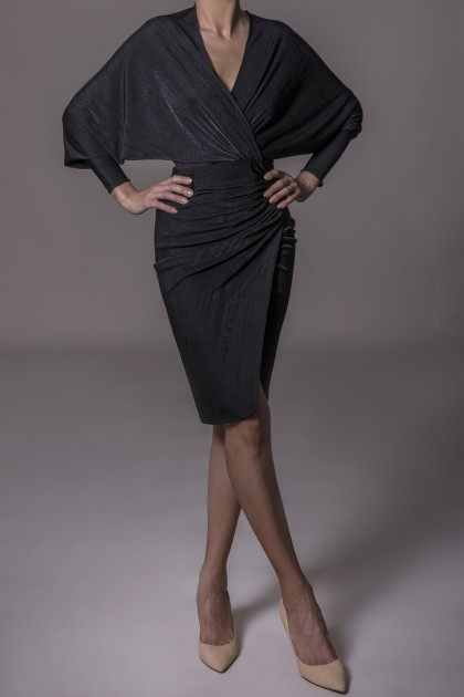 BATWING SLEEVES DRESS