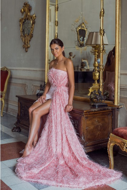 FALCONERA FEATHERS GOWN