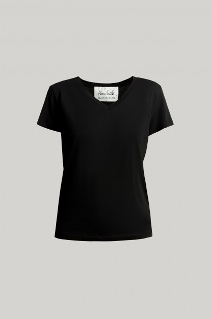 V-NECK ORGANIC COTTON T-SHIRT