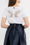 ANGEL WINGS BACK V-NECK T-SHIRT WHITE