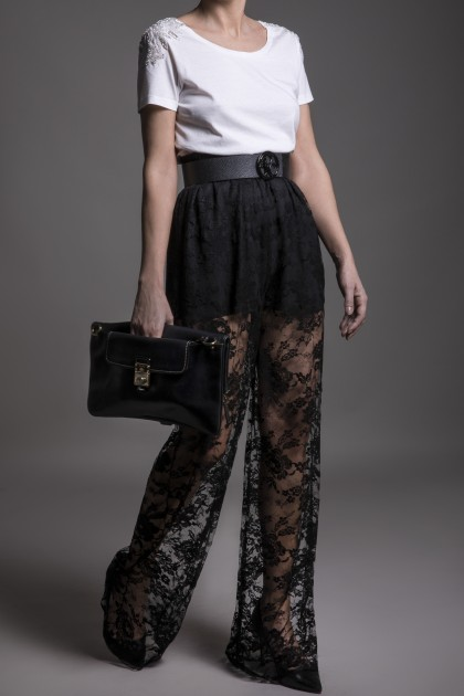 SEE THROUGH LONG LACE PANTS