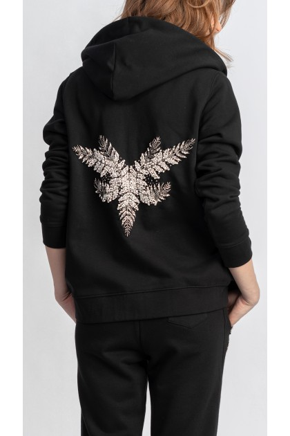 ORGANIC COTTON HOODIE WITH BACK EMBROIDERY