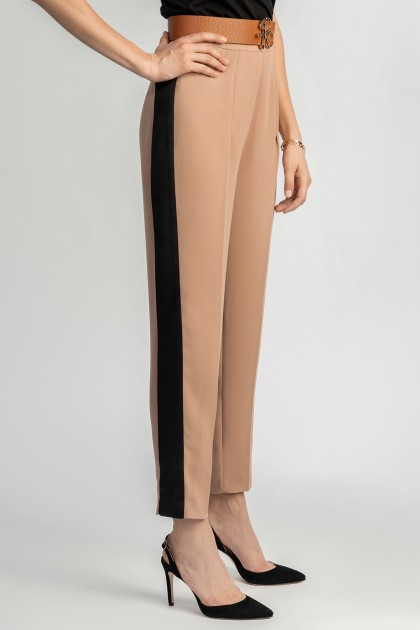 TAPERED CREPE PANTS