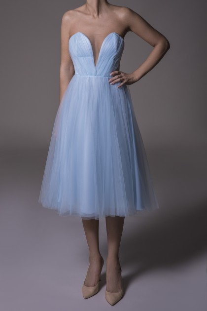 CORSET MIDI TULLE DRESS