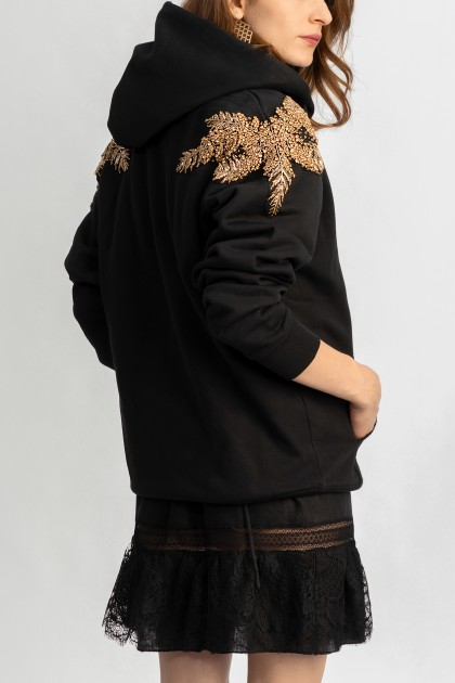 GOLD ANGEL OVERSIZED ORGANIC COTTON HOODIE