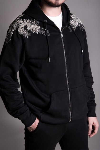 MEN'S EMBROIDERED ORGANIC COTTON HOODIE