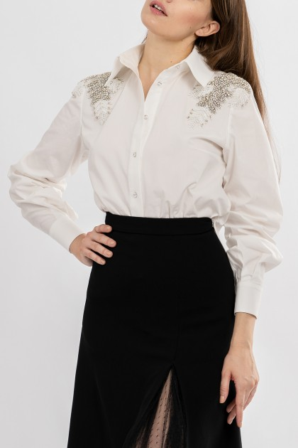 ANGEL WINGS EMBROIDERY ON SHOULDERS SHIRT