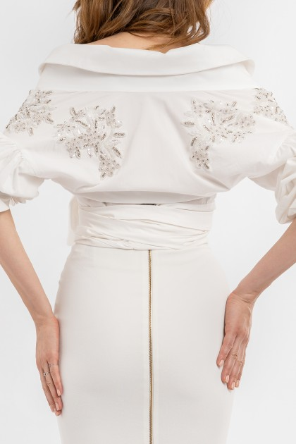 RICH EMBROIDERY COTTON SHIRT