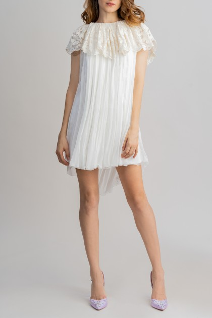 SOFT-V OPEN-BACK SHORT DRESS