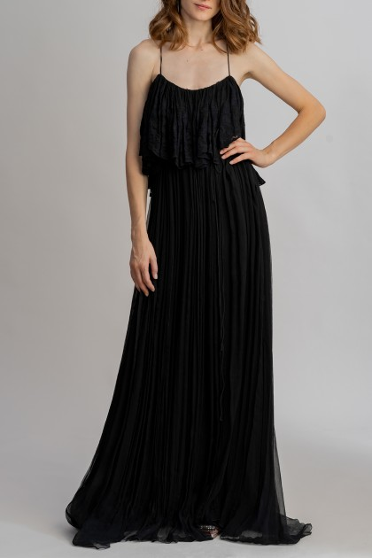 DEEP-V OPEN-BACK LONG DRESS