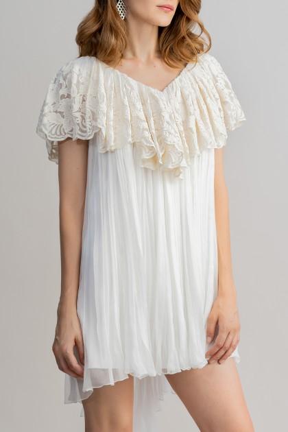 V-NECKLINE ASYMMETRICAL SHORT DRESS