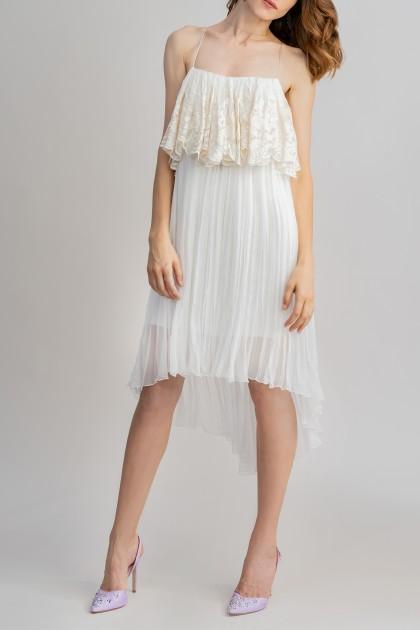 ASYMMETRICAL SHORT DRESS WITH SPAGHETTI STRAPS