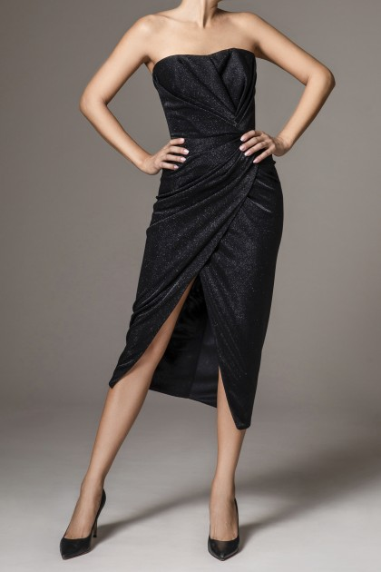 BODYCON STRETCH JERSEY MIDI DRESS