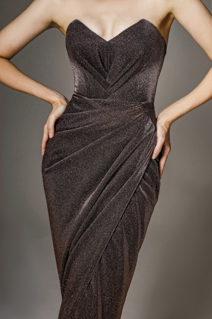 STRAPLESS JERSEY GOWN