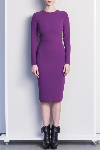 EFFORTLESS CREPE MIDI OFFICE DRESS
