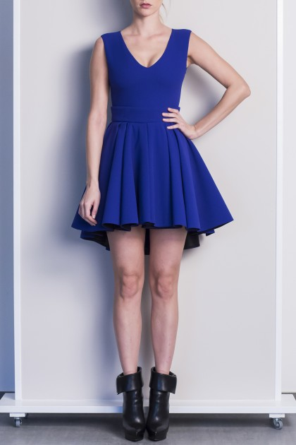 RICH VOLUME CREPE SHORT DRESS