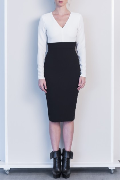 SLEEK OFFICE MIDI DRESS IN TWO COLOURS