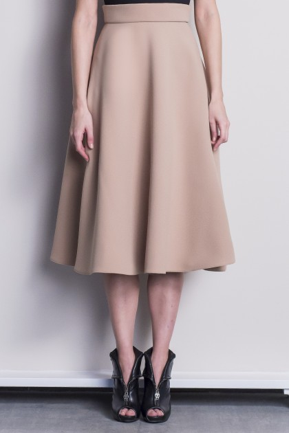 STYLISH CREPE MIDI SKIRT