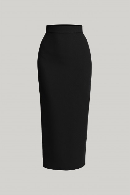 CREPE MIDI SKIRT - BELT INCLUDED