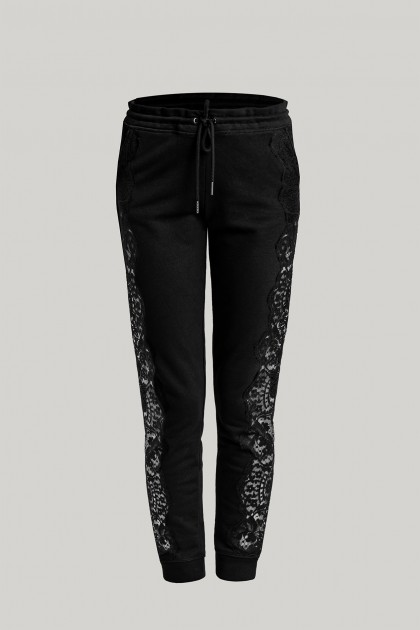 LACE INSERTS COMFY TRACK PANTS