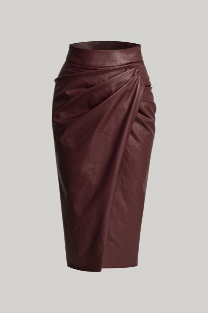 PENCIL VEGAN LEATHER SKIRT