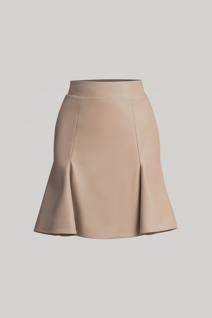 VEGAN LEATHER SHORT SKIRT