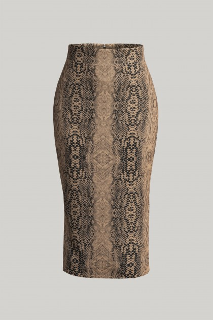 PYTHON PENCIL MIDI SKIRT