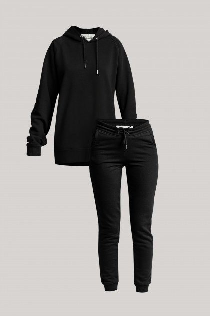 ORGANIC COTTON BASIC COMFY BLACK SET