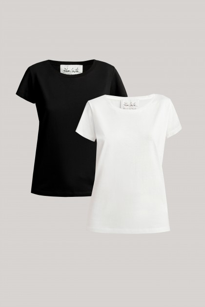 ROUND NECK ORGANIC COTTON T-SHIRT SET