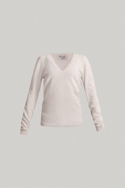 EVANGELINE V-NECK CASHMERE SWEATER