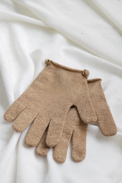 BASIC SHORT CASHMERE GLOVES
