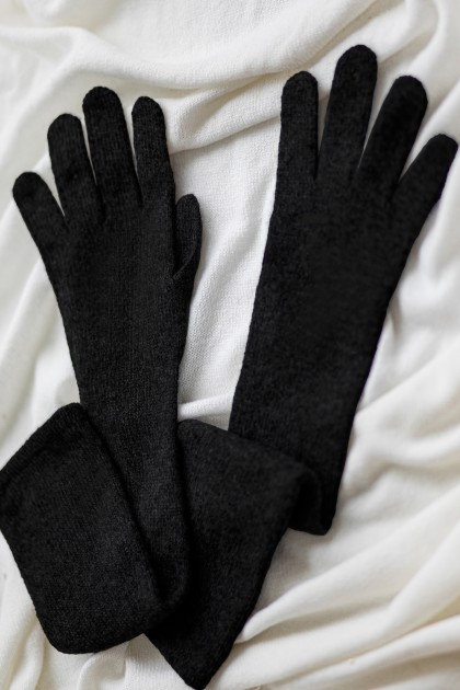 BASIC LONG CASHMERE CASHMERE GLOVES
